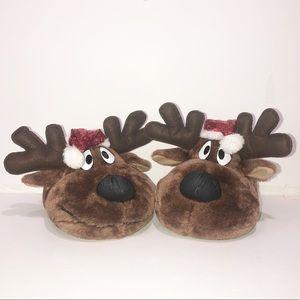 NWOT Joe Boxer Dasher 2 Reindeer slippers.